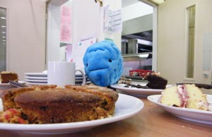 Brian the Brain is never one to miss a coffee morning!