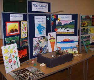 The roadshow featured a display of artwork created by Headway Devon clients