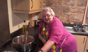 Margaret shows us how to make chutney